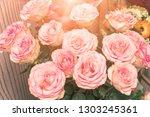 a bouquet of beautiful delicate ...   Shutterstock . vector #1303245361