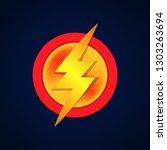 super hero logo powerfull... | Shutterstock .eps vector #1303263694
