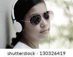 beautiful teenage girl with... | Shutterstock . vector #130326419