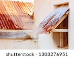 Red Corrugated Iron Roof And...