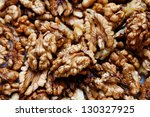 close up of raw walnuts ... | Shutterstock . vector #130327925