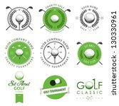 set of golf club logos  labels... | Shutterstock .eps vector #130330961