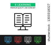 vector e learning icon....   Shutterstock .eps vector #1303318327