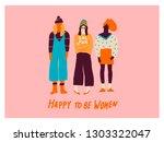 young women friends...   Shutterstock .eps vector #1303322047