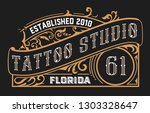 tattoo logo template with...   Shutterstock .eps vector #1303328647