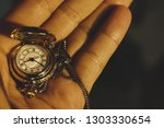 vintage pocket watch with... | Shutterstock . vector #1303330654