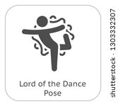 yoga lord of the dance pose... | Shutterstock .eps vector #1303332307