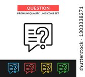 vector question icon. message... | Shutterstock .eps vector #1303338271
