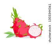 vector illustration dragon... | Shutterstock .eps vector #1303344361
