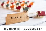 Brown Sold Stamped Text Label...