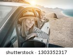 happiness travelers mother and...   Shutterstock . vector #1303352317