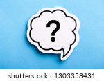 question mark speech bubble... | Shutterstock . vector #1303358431