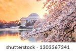 the jefferson memorial during... | Shutterstock . vector #1303367341