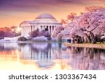 the jefferson memorial during... | Shutterstock . vector #1303367434