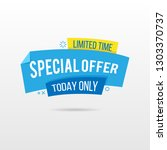 limited time special offer... | Shutterstock .eps vector #1303370737