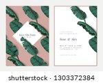 botanical wedding invitation...   Shutterstock .eps vector #1303372384