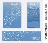 set flyer  brochure size a4... | Shutterstock .eps vector #1303376431