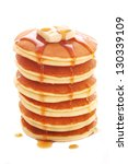 Stack Of Pancakes Isolated On...