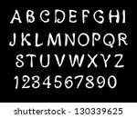 sketch alphabet. font. | Shutterstock . vector #130339625