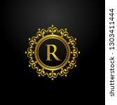 luxury circle logo template   Shutterstock .eps vector #1303411444