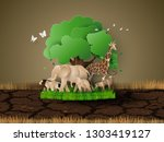 world wildlife day with the... | Shutterstock .eps vector #1303419127