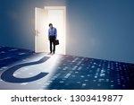 businessman in uncertainty and... | Shutterstock . vector #1303419877