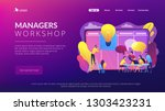 managers at workshop training... | Shutterstock .eps vector #1303423231