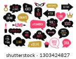 wedding and bachelorette party... | Shutterstock .eps vector #1303424827