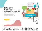 like our content subscribe now...   Shutterstock .eps vector #1303427341
