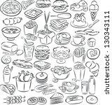 vector illustration of  food... | Shutterstock .eps vector #130343111