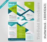 business tri fold brochure... | Shutterstock .eps vector #1303432621