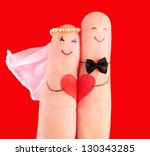 wedding concept   newlyweds... | Shutterstock . vector #130343285