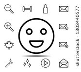 smile icon. simple thin line ...