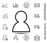 user icon. simple thin line ...
