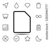 blank sheet icon. simple thin...