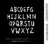 vector fonts   handwritten... | Shutterstock .eps vector #1303445194