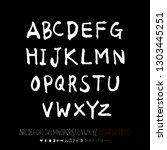 vector fonts   handwritten... | Shutterstock .eps vector #1303445251
