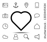 heart icon. simple thin line ...