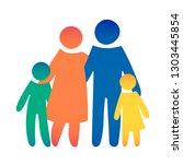 happy family icon multicolored... | Shutterstock .eps vector #1303445854