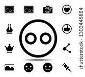 emoji icon. simple glyph...