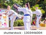 russia  samara  august 2018 ... | Shutterstock . vector #1303446004