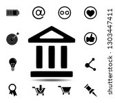 bank icon. simple glyph...