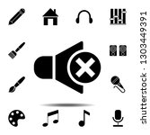 no sound  mute symbol sign icon....