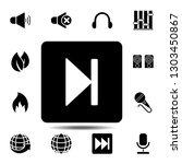 next track button symbol sign...