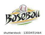 vector logo for baseball ...   Shutterstock .eps vector #1303451464