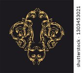 gold ornament baroque style.... | Shutterstock .eps vector #1303453021
