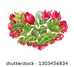 decorative illustration  heart  ... | Shutterstock . vector #1303456834
