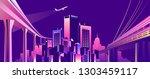 vector illustration  night city ... | Shutterstock .eps vector #1303459117