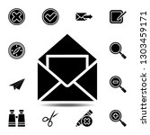 open envelope mail with a...