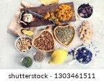 herbal medicine. homeopathy.... | Shutterstock . vector #1303461511